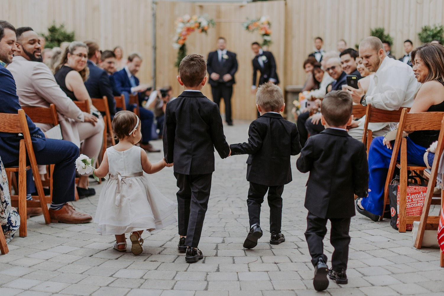 wedding ring bearers and flower girl