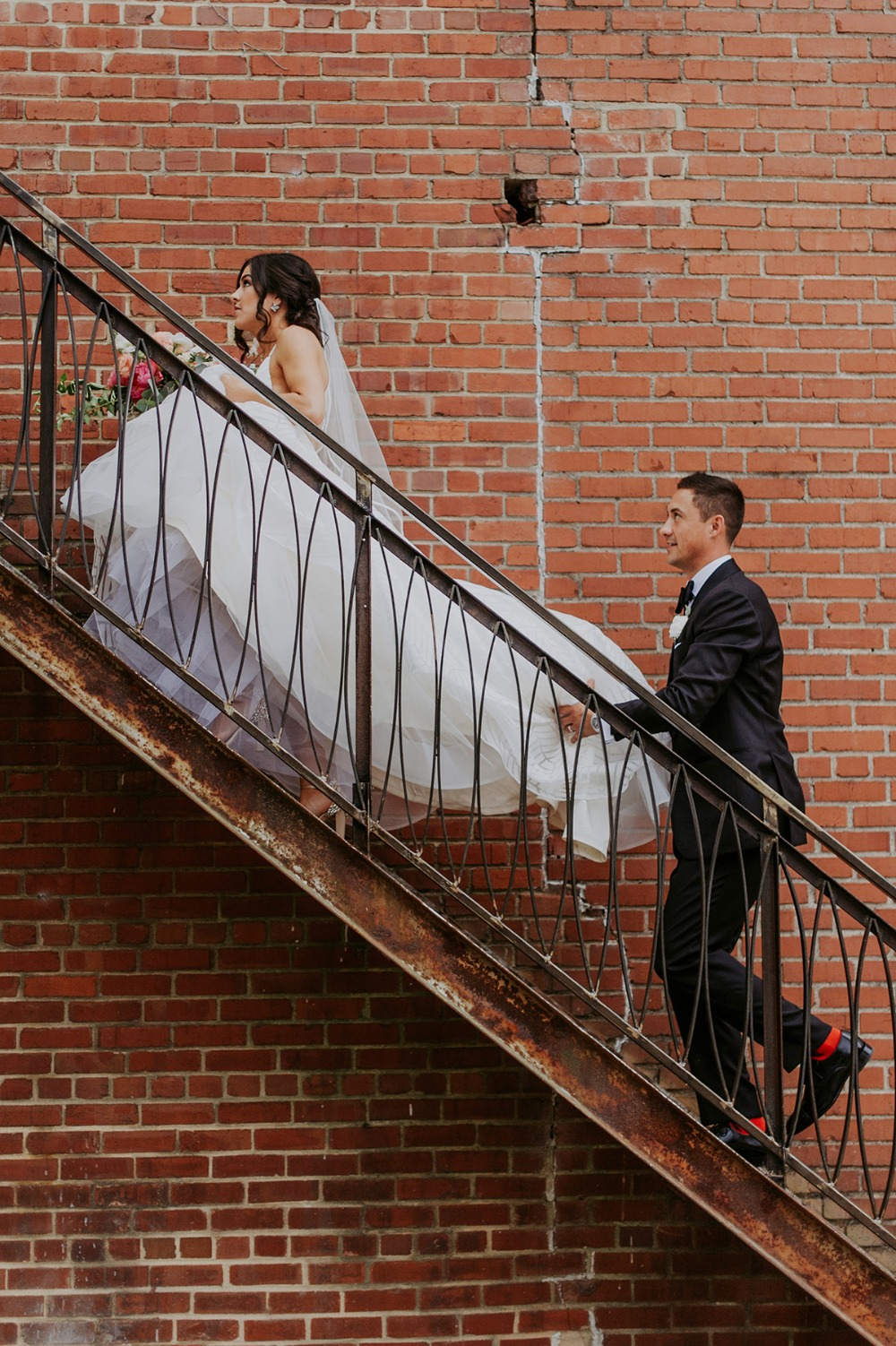 here comes the wedding couple