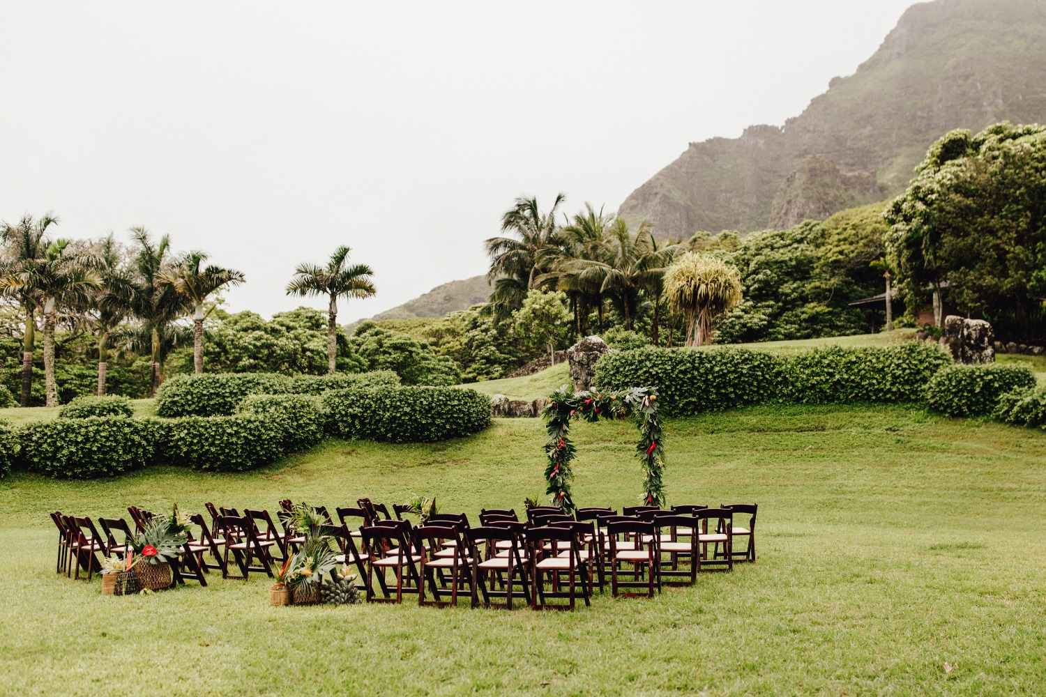 Tropical ceremony at Kualoa Rnach