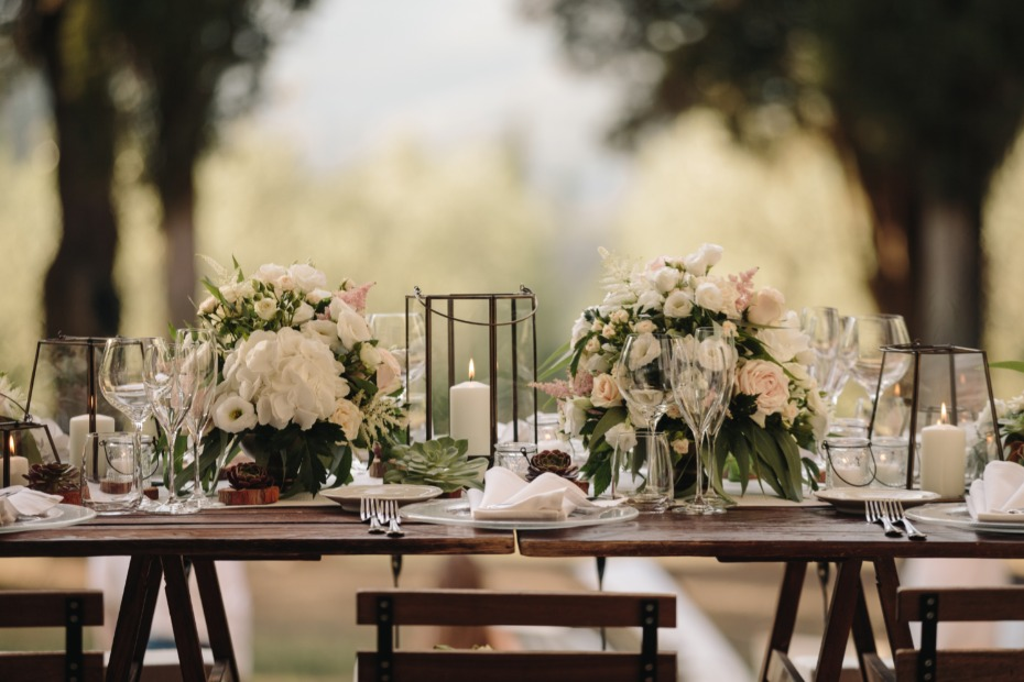 Wedding Tablescape in Tuscany Italy Planned by Wed in Florence