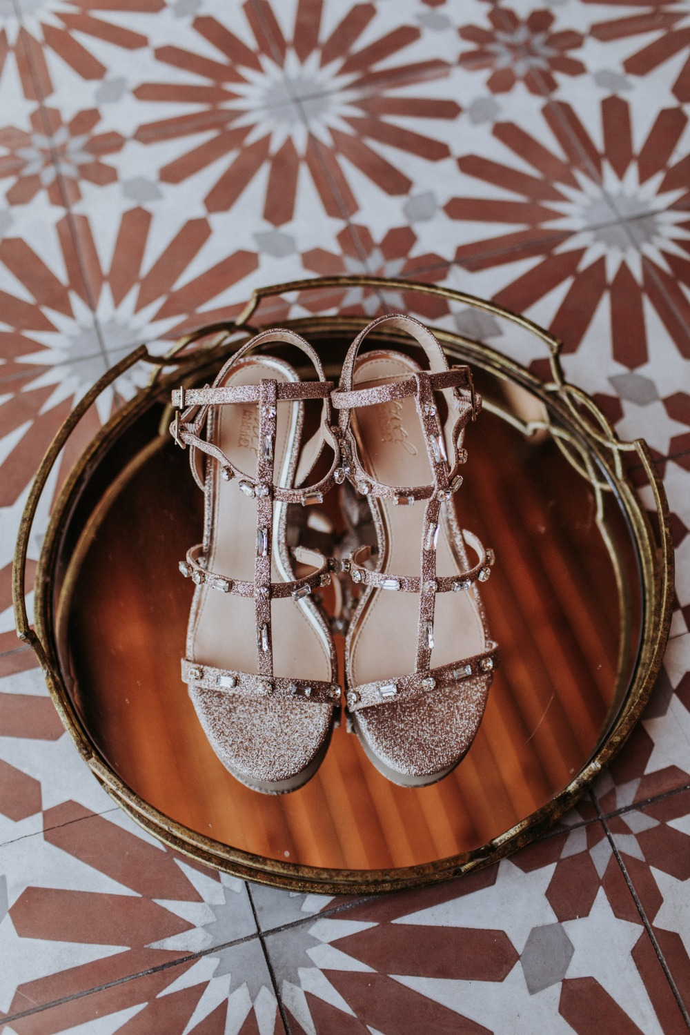 glittery wedding shoes