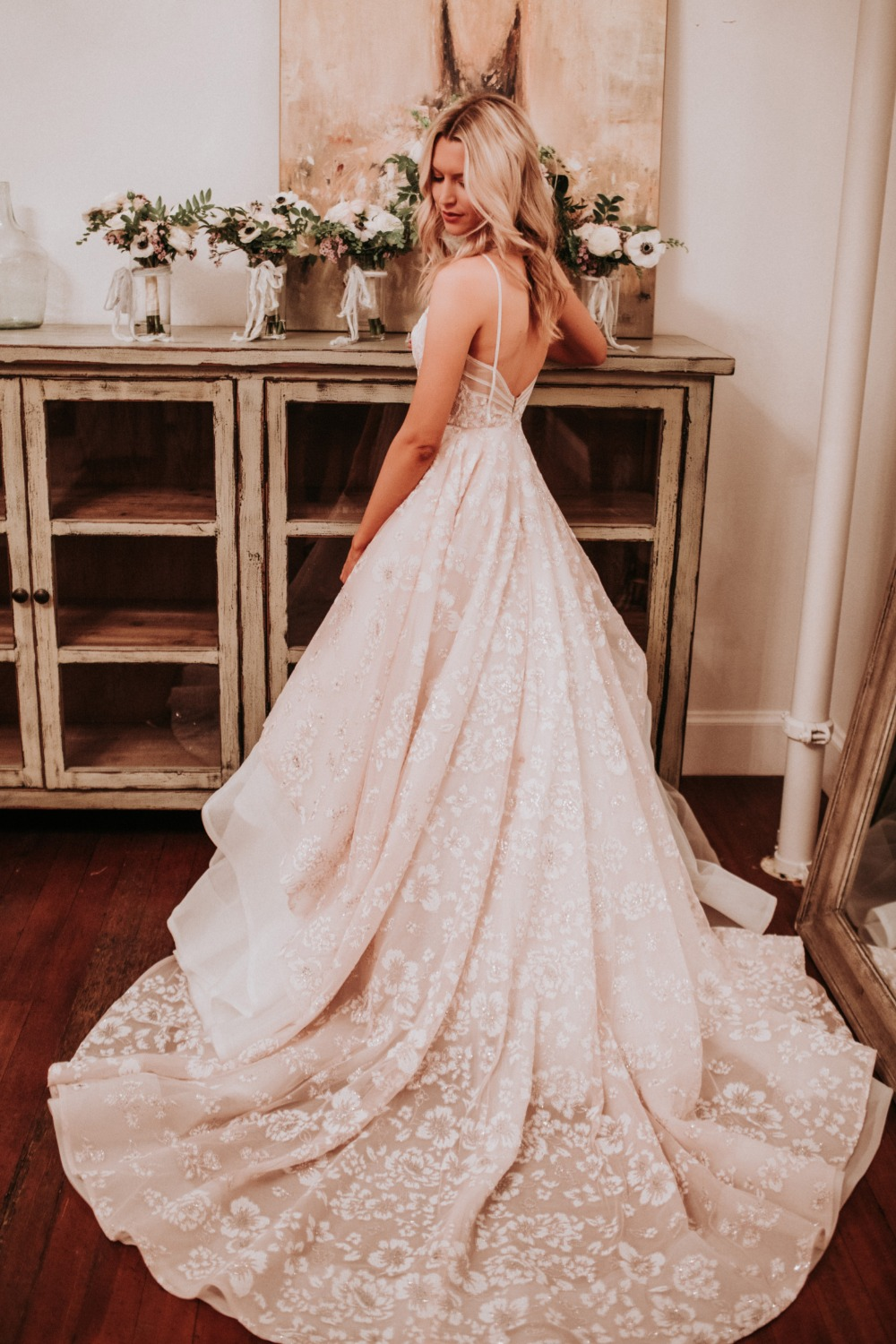 floral print wedding dress by Hayley Paige