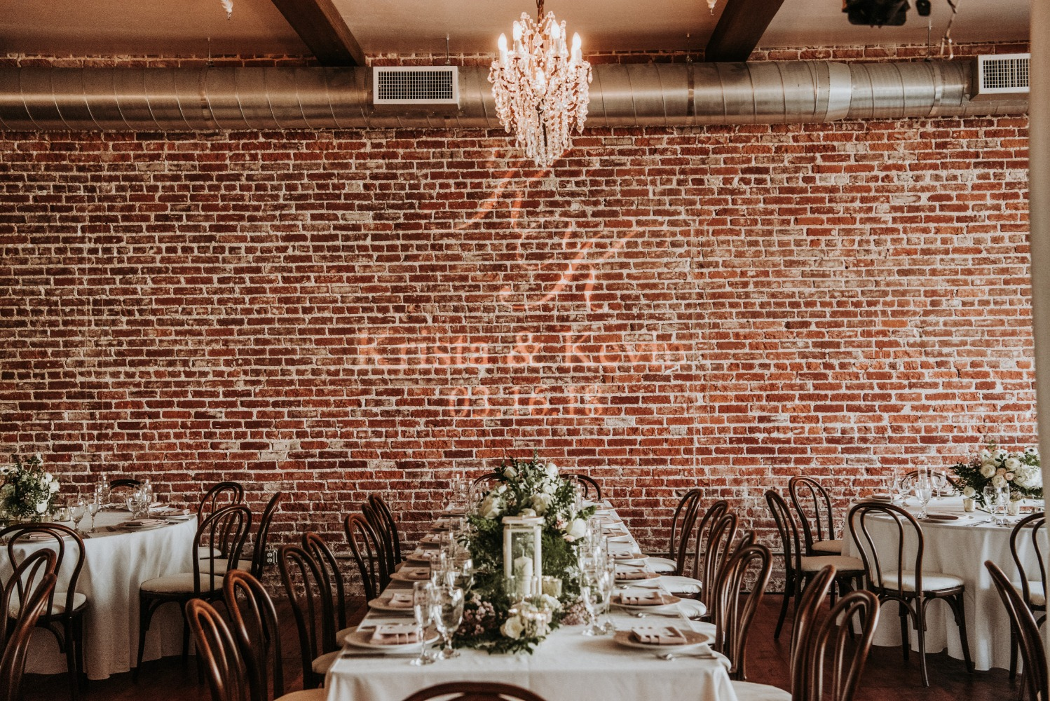 chic wedding space
