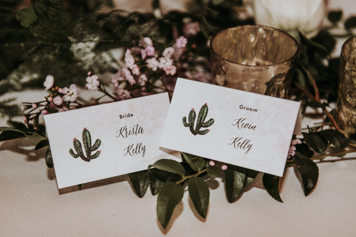 cactus themed place cards