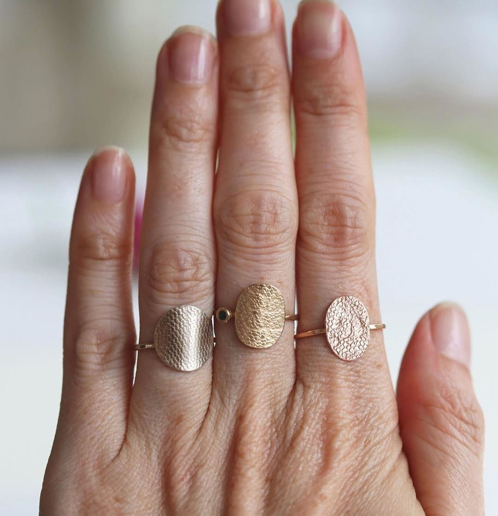 Your personalized treasure ❤️ Did you know you could custom order a beautiful lace patterned ring made from lace, veil and other