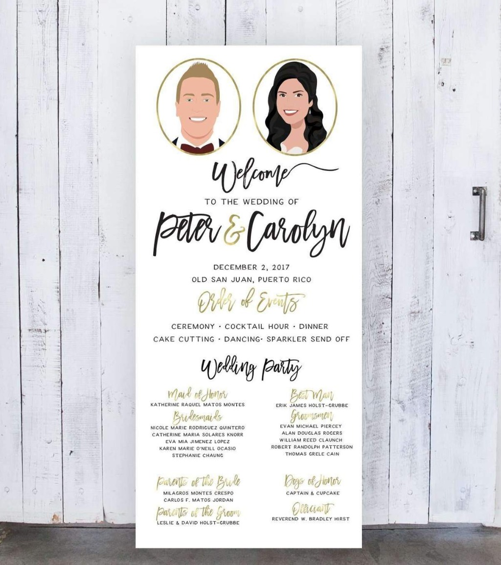 Whether your wedding vision is big or small, we'll create the perfect design for you!! This Wedding Program Sign on Large Canvas is