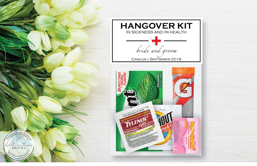 Wedding Survival Kit! Perfect to throw into your wedding welcome bags!