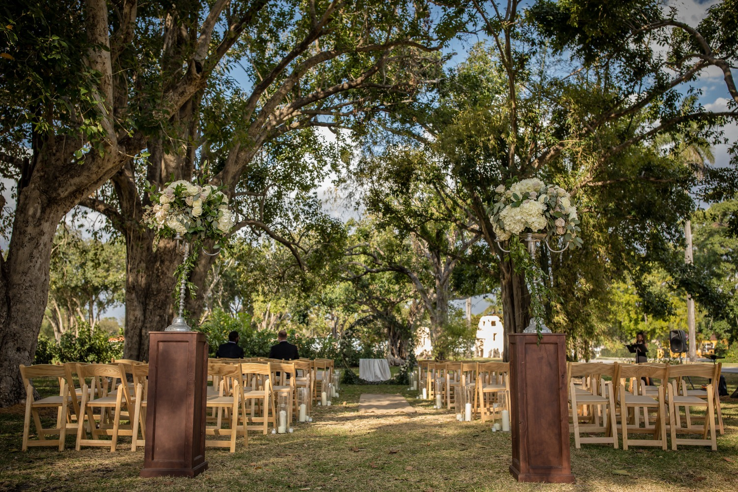 Formal outdoor ceremony