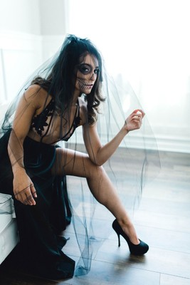 Spice up your Halloween with a Sexy Boudoir Shoot