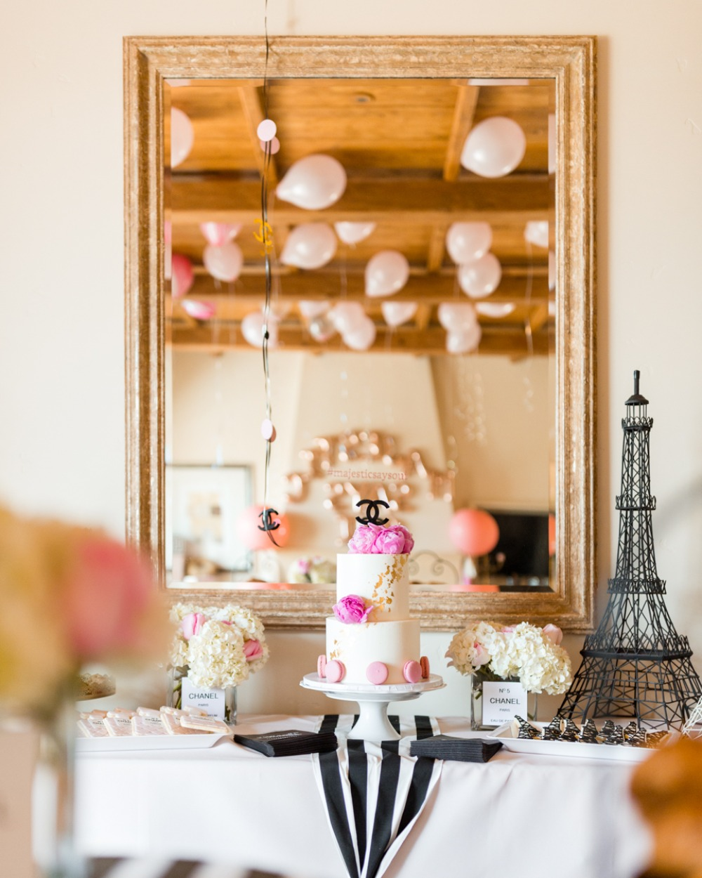 chanel and Paris themed bridal shower
