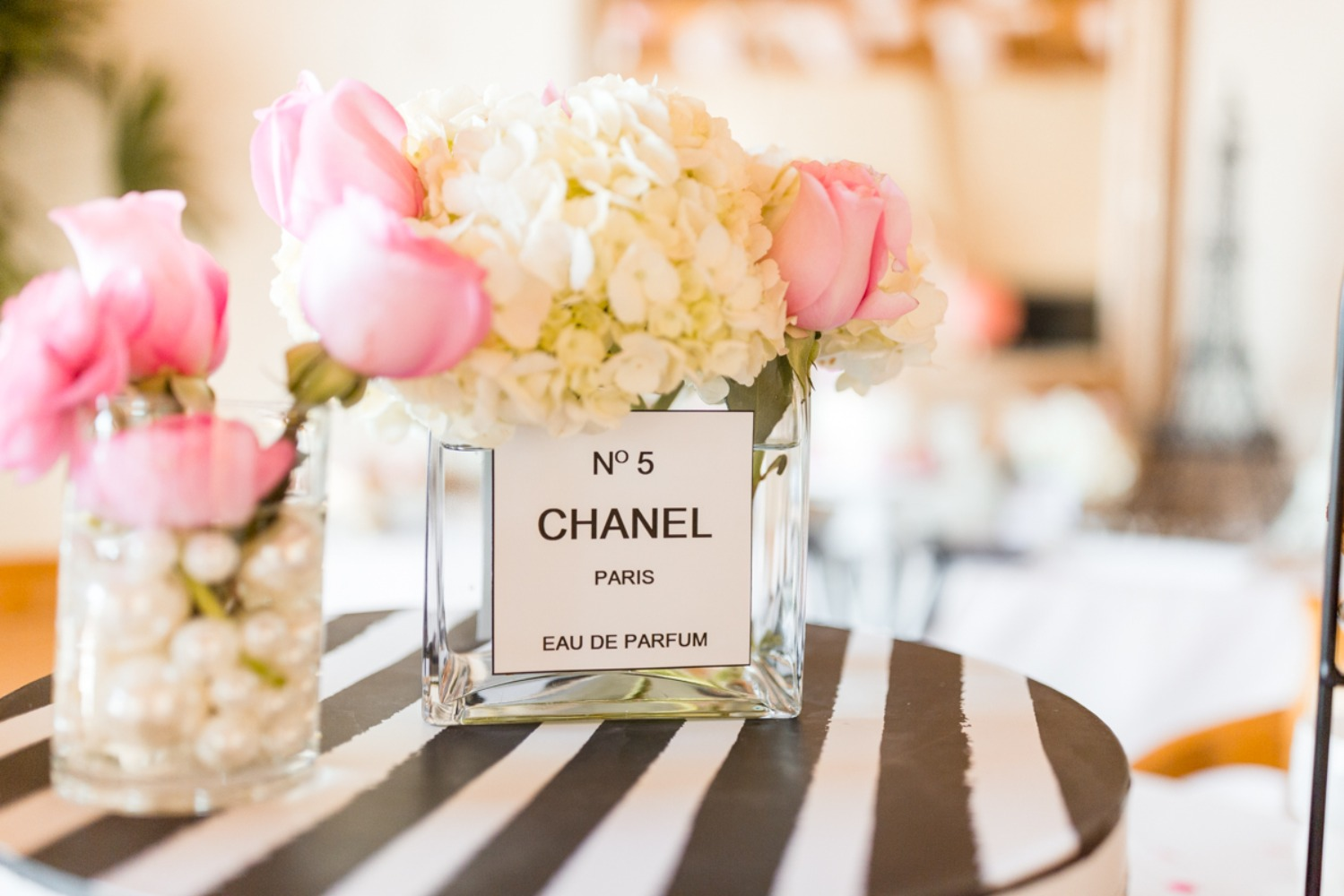 Chanel No 5 flower vase