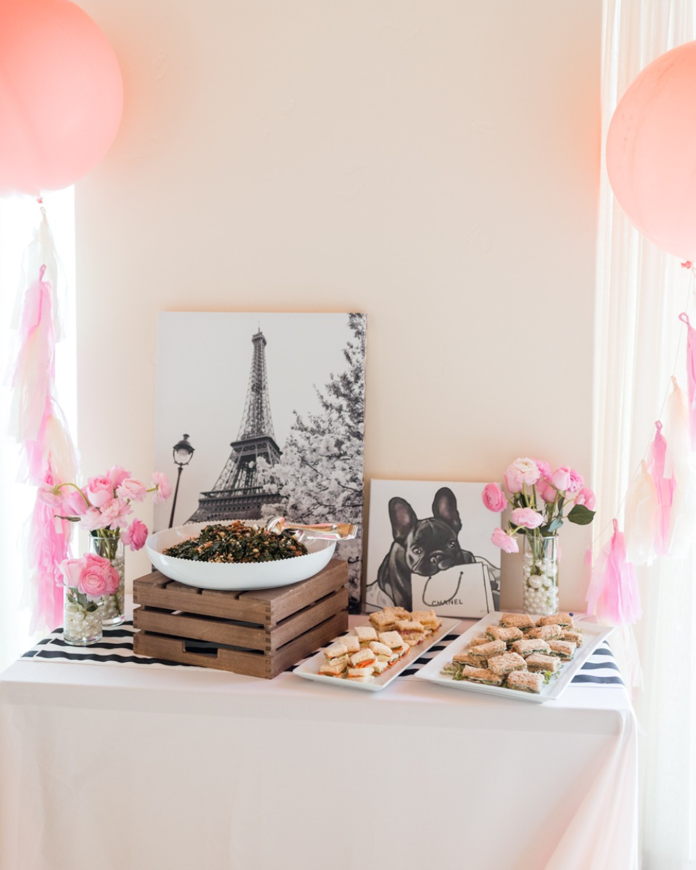 french themed bridal shower idea