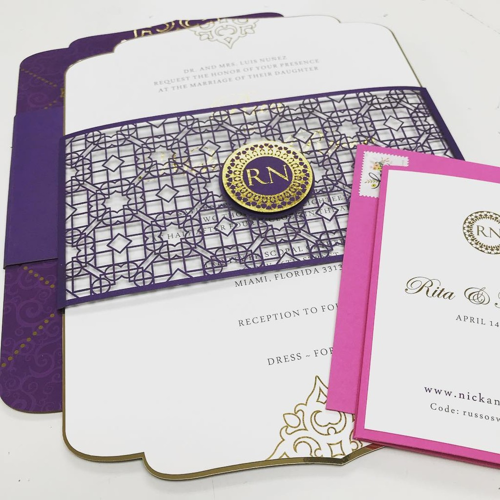 An amazing Andalusian-Moroccan themed wedding invitation design we're working on this week