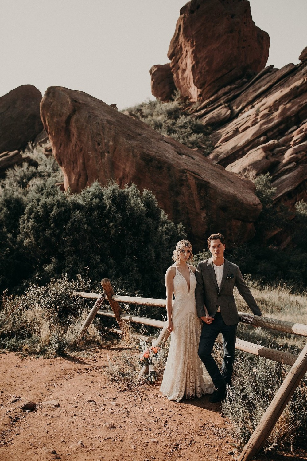 wedding at Red Rocks