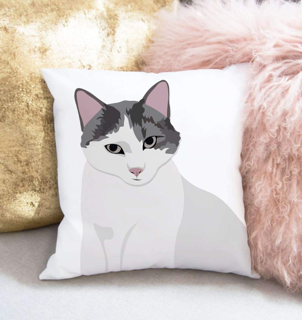 For the pet obsessed in your life, THIS Personalized Pet Portrait Pillow from Miss Design Berry is the perfect gift!! This pillow is