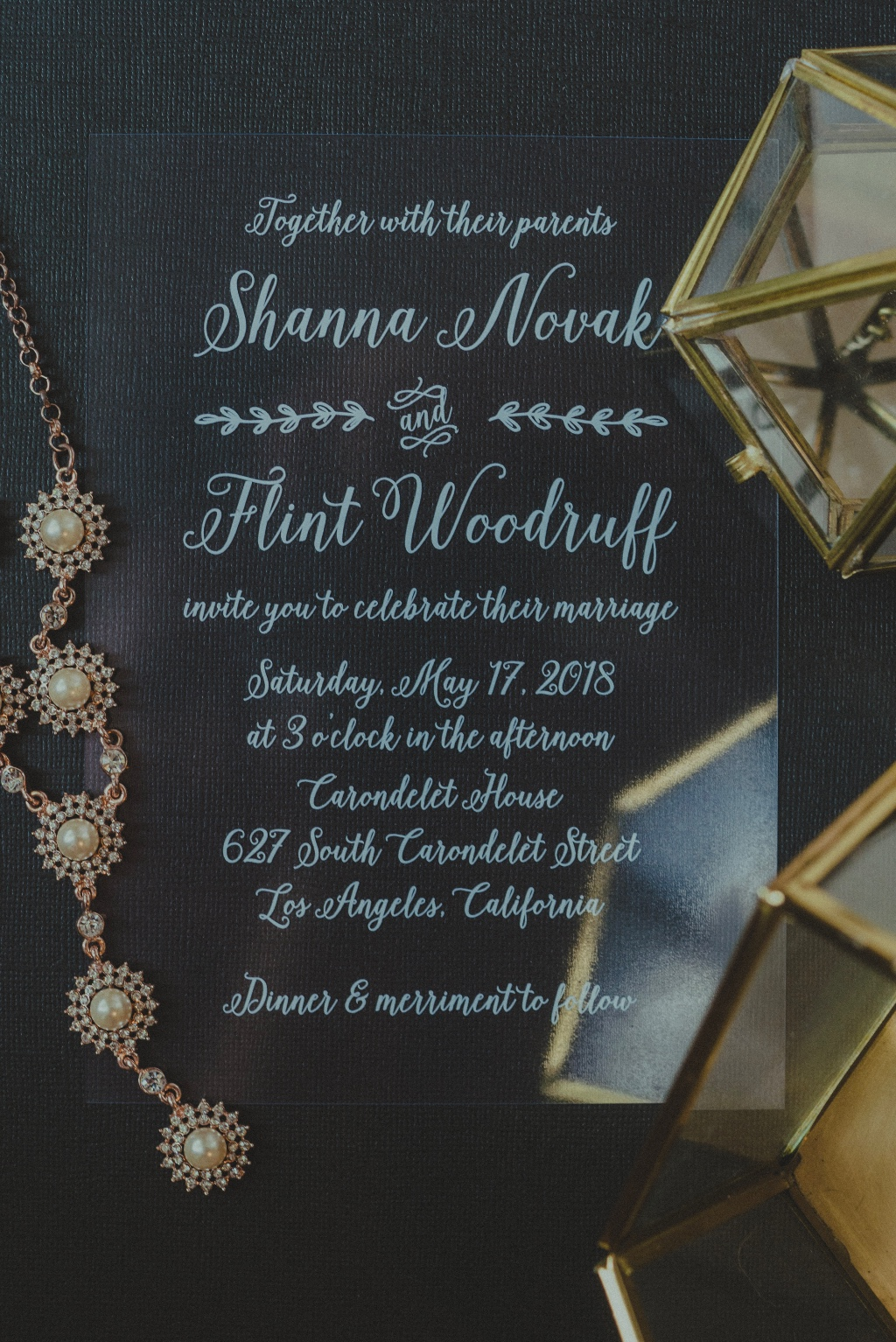 Clear wedding invitations give you the freedom to create any wedding decor and style you want!