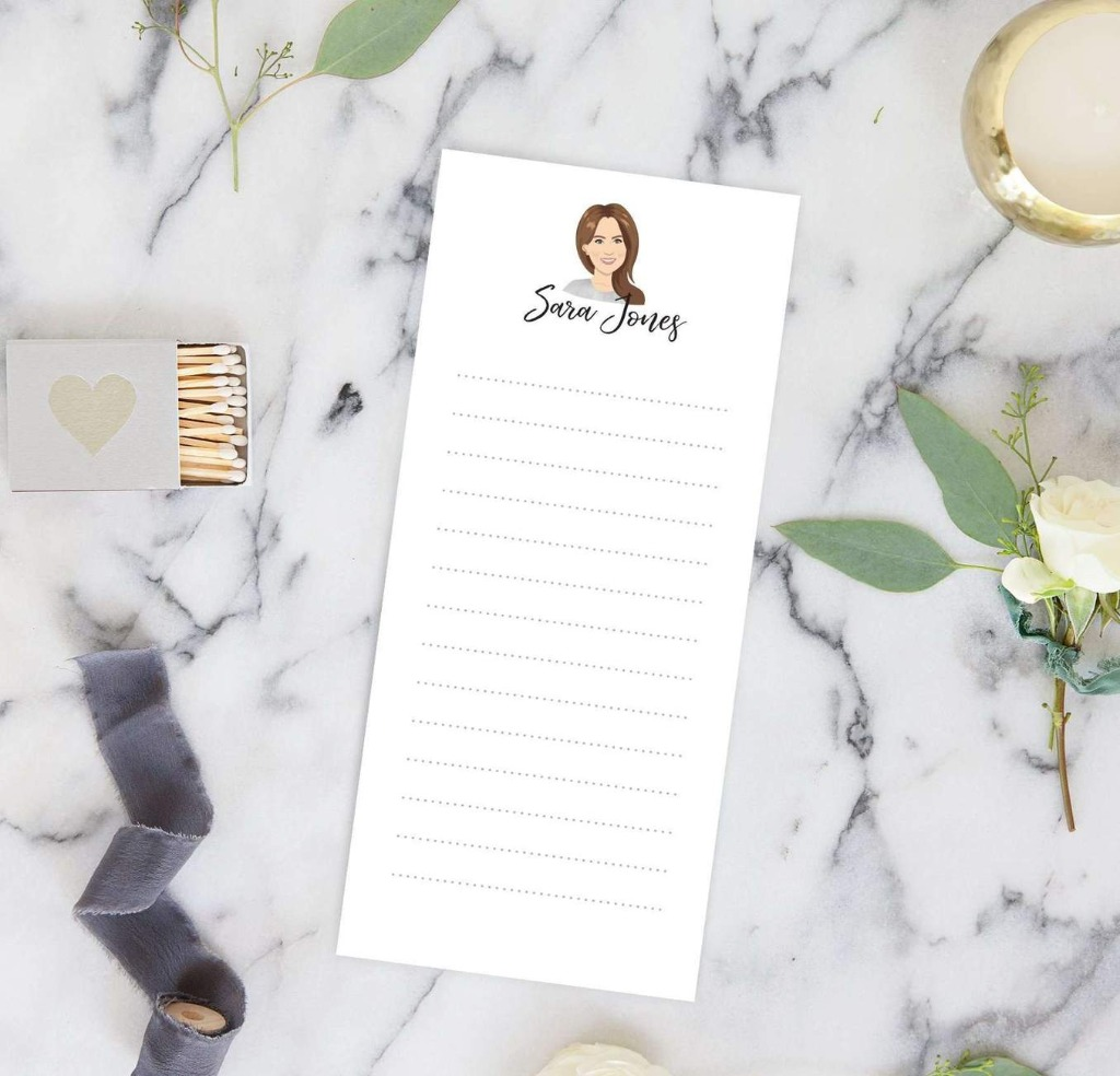 Finding the perfect bridesmaid gift is super important, and at Miss Design Berry, we're looking out for you!! This Portrait Notepad