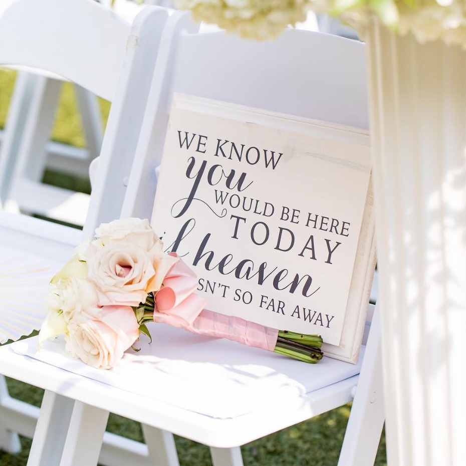 Wedding memorial sign for ceremony
