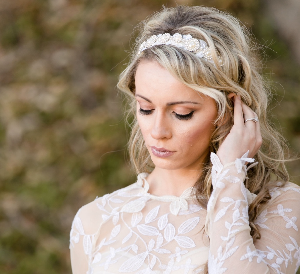 Unique and glamorous bridal headbands that are all one of a kind