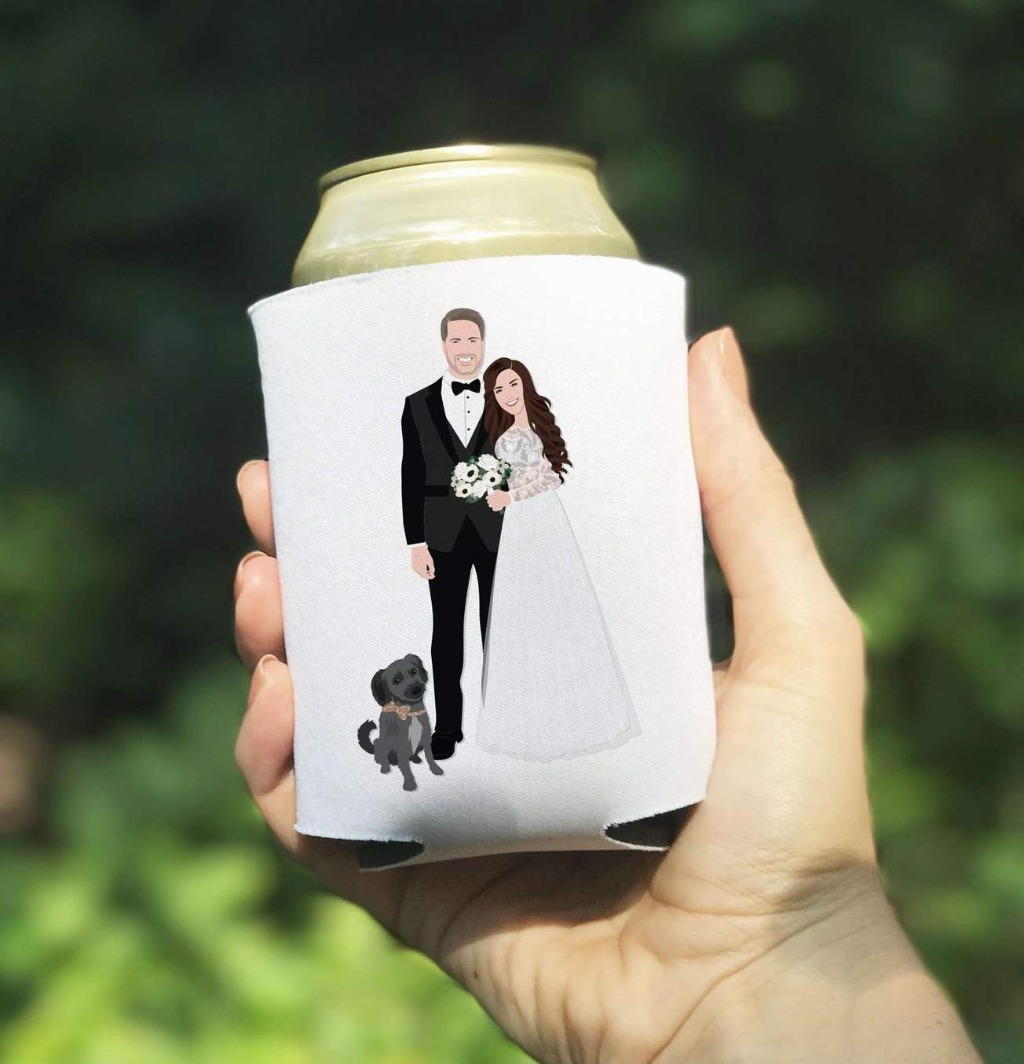 Picking the perfect favors is a huge deal, and coozies are all the rage right now!! These amazing Custom Wedding Coozies from Miss