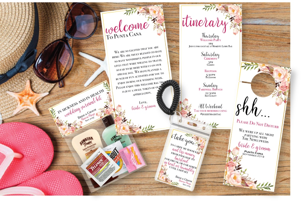 Destination Wedding Welcome Suite! See more designs now!