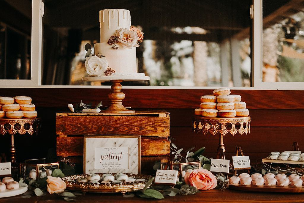 Love is... Wedding Cake Table with Opulent Treasures Cake Stands!