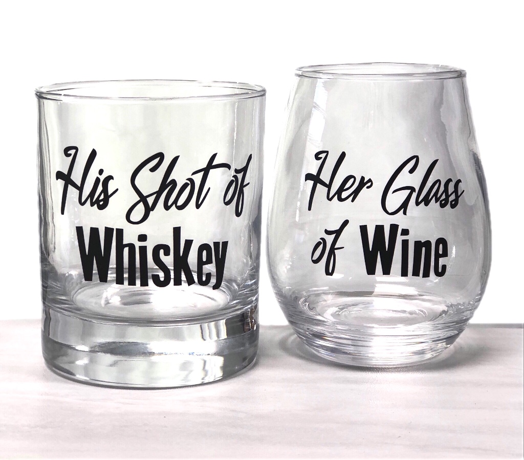 Here's a cute couples gift. Whiskey and Wine!