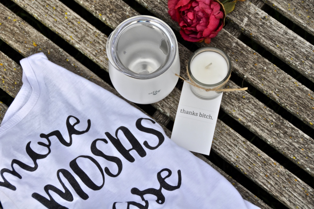 More mimosas please!!! The perfect mimosa-inspired gift for your bridesmaid...complete with tank top, personalized wine tumbler, candle