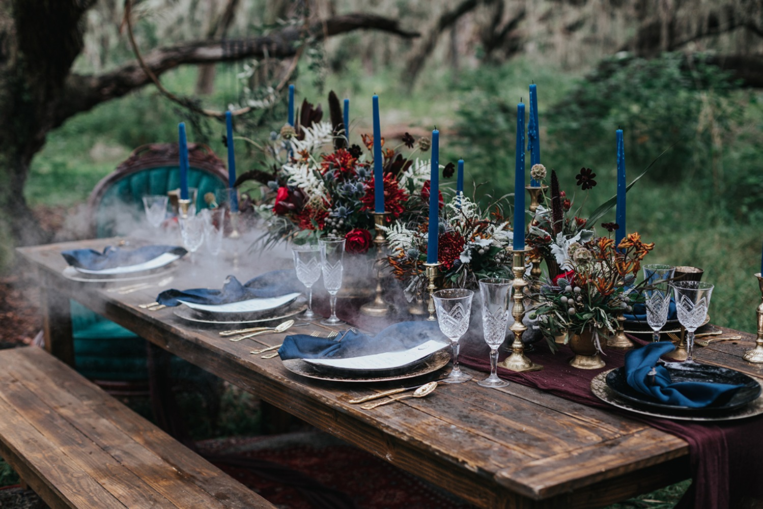 wedding forest table decor