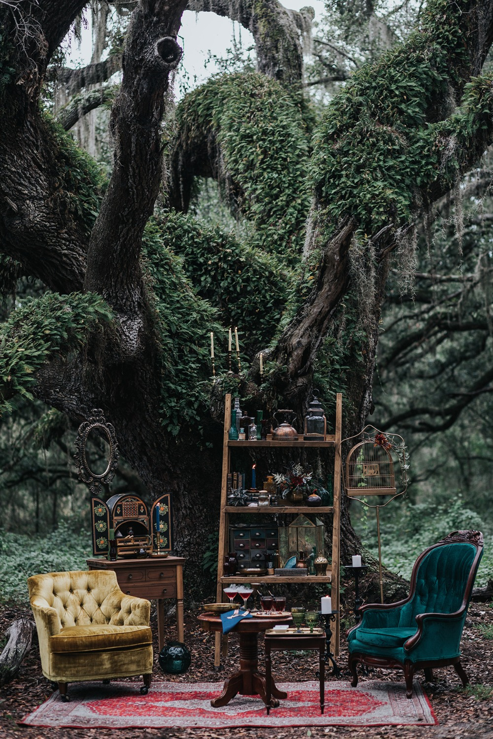 mystical forest wedding lounge