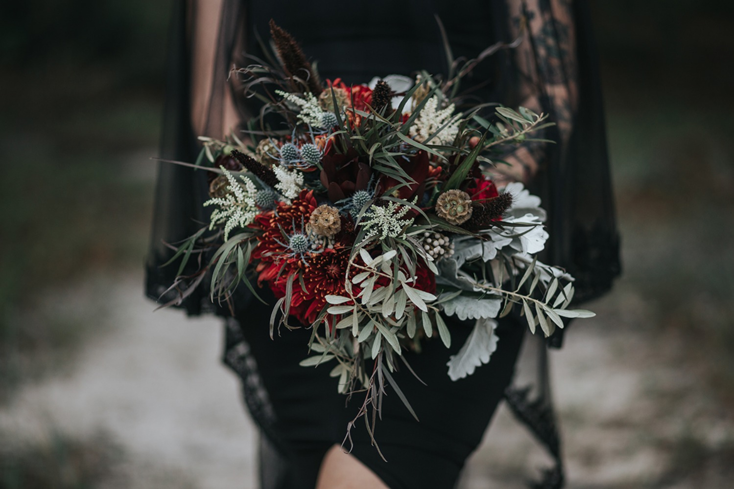 wedding bouquet with fantasy vibe