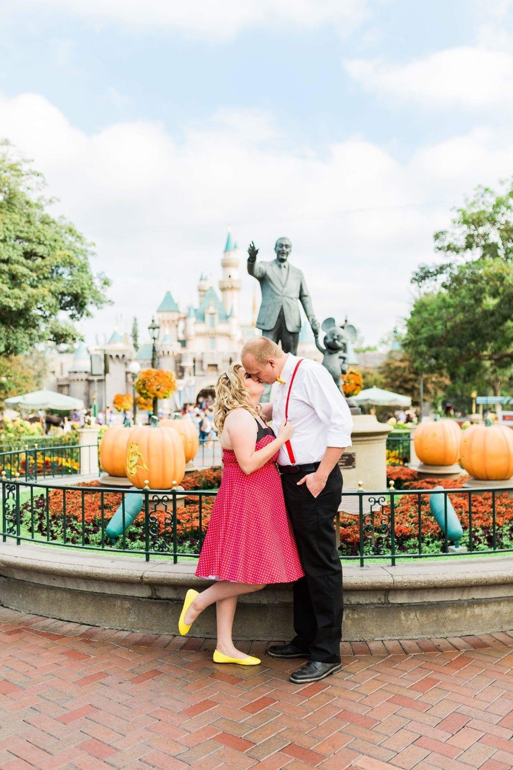 Disneyland is always a great idea for an engagement session!