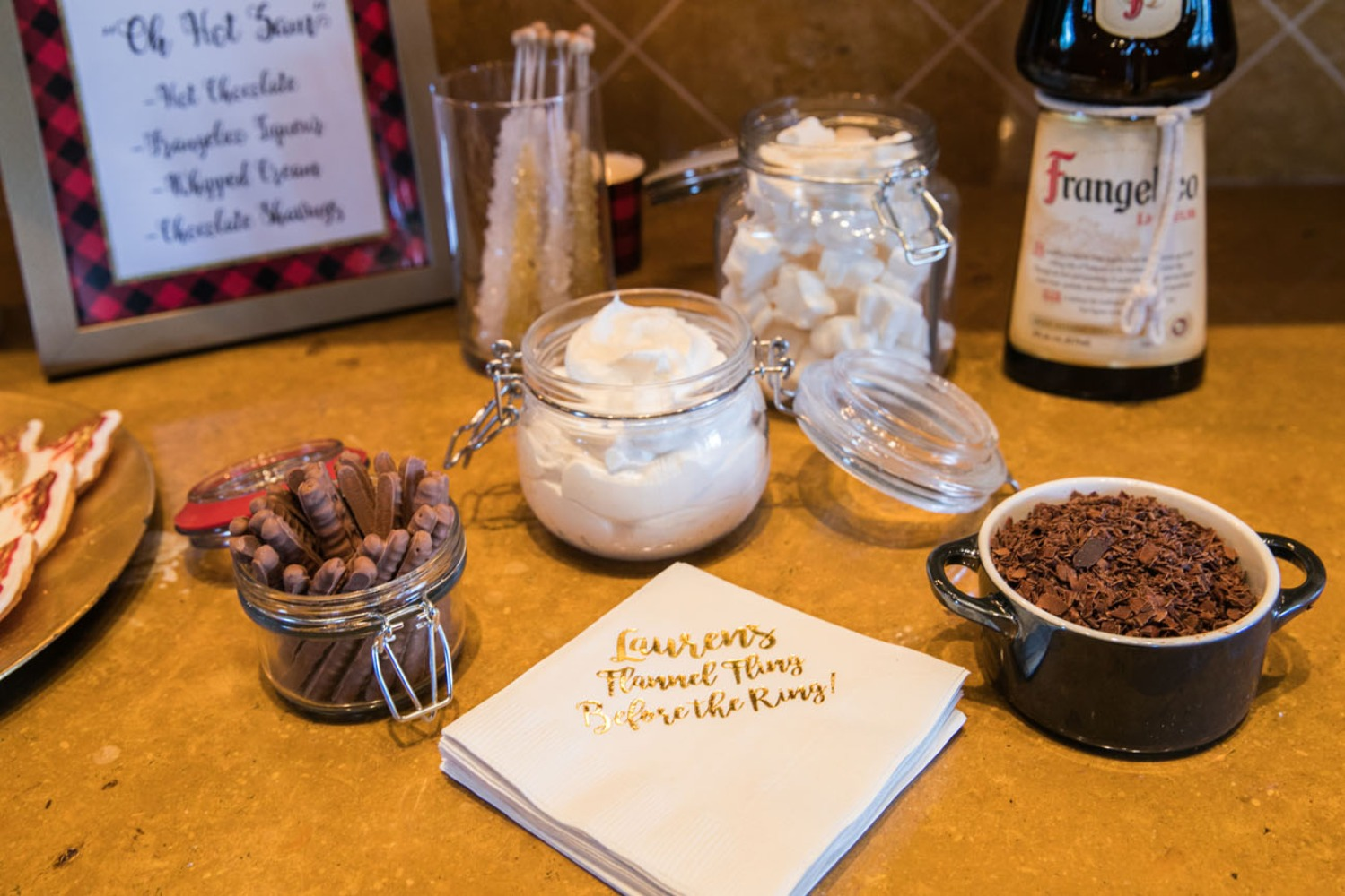 Hot chocolate bar for a bachelorette weekend