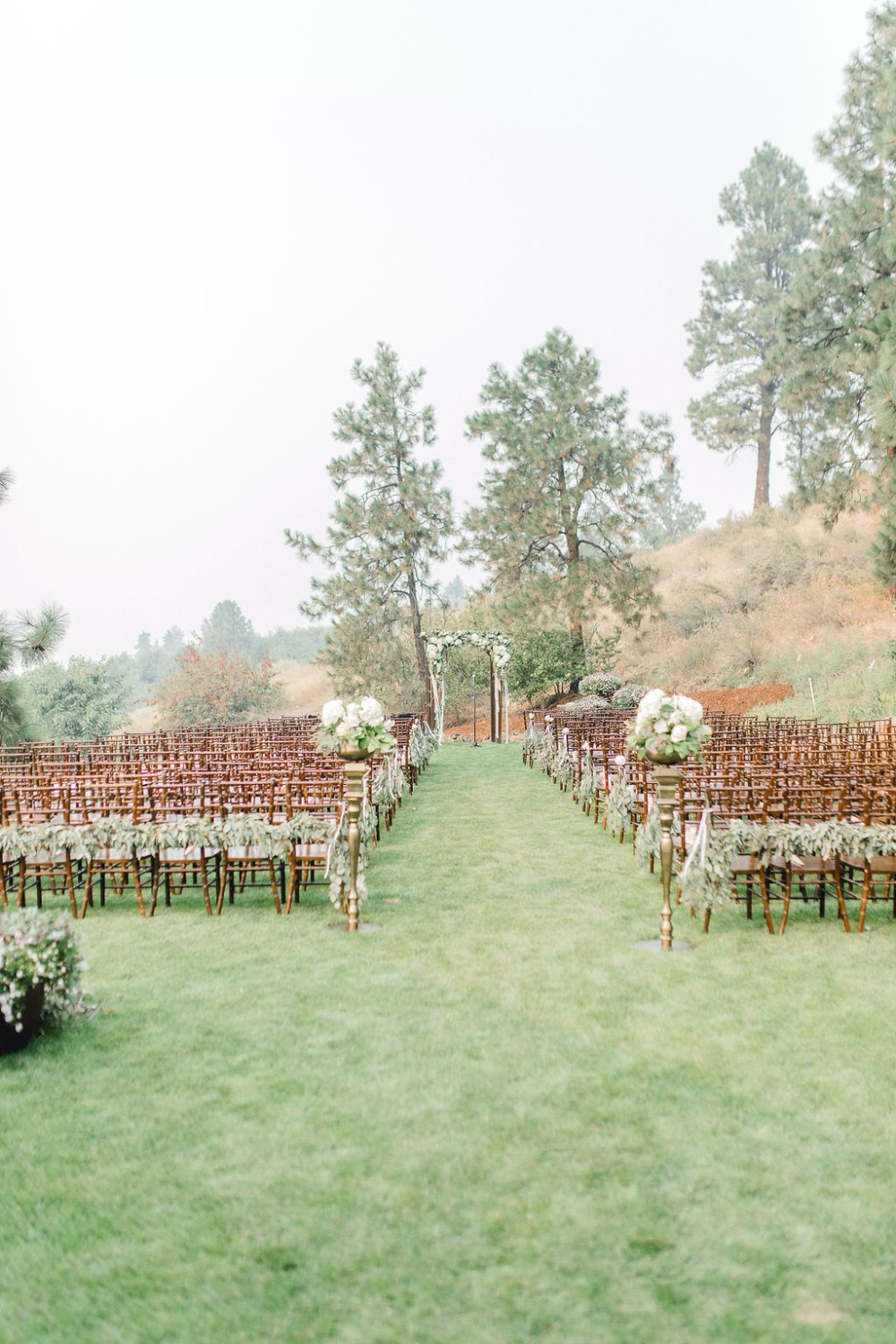 Chic garden ceremony