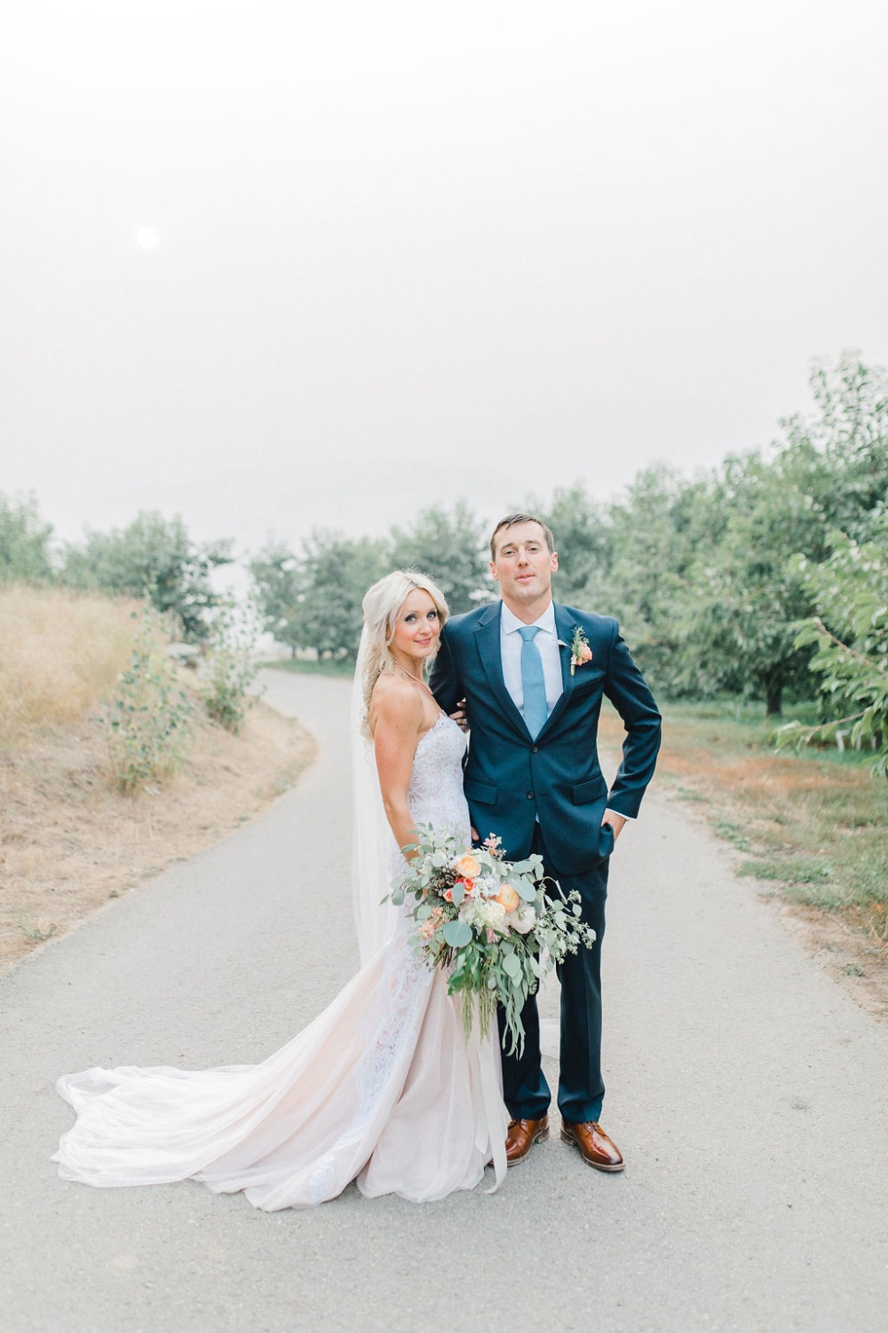Chic shades of blue outdoor wedding