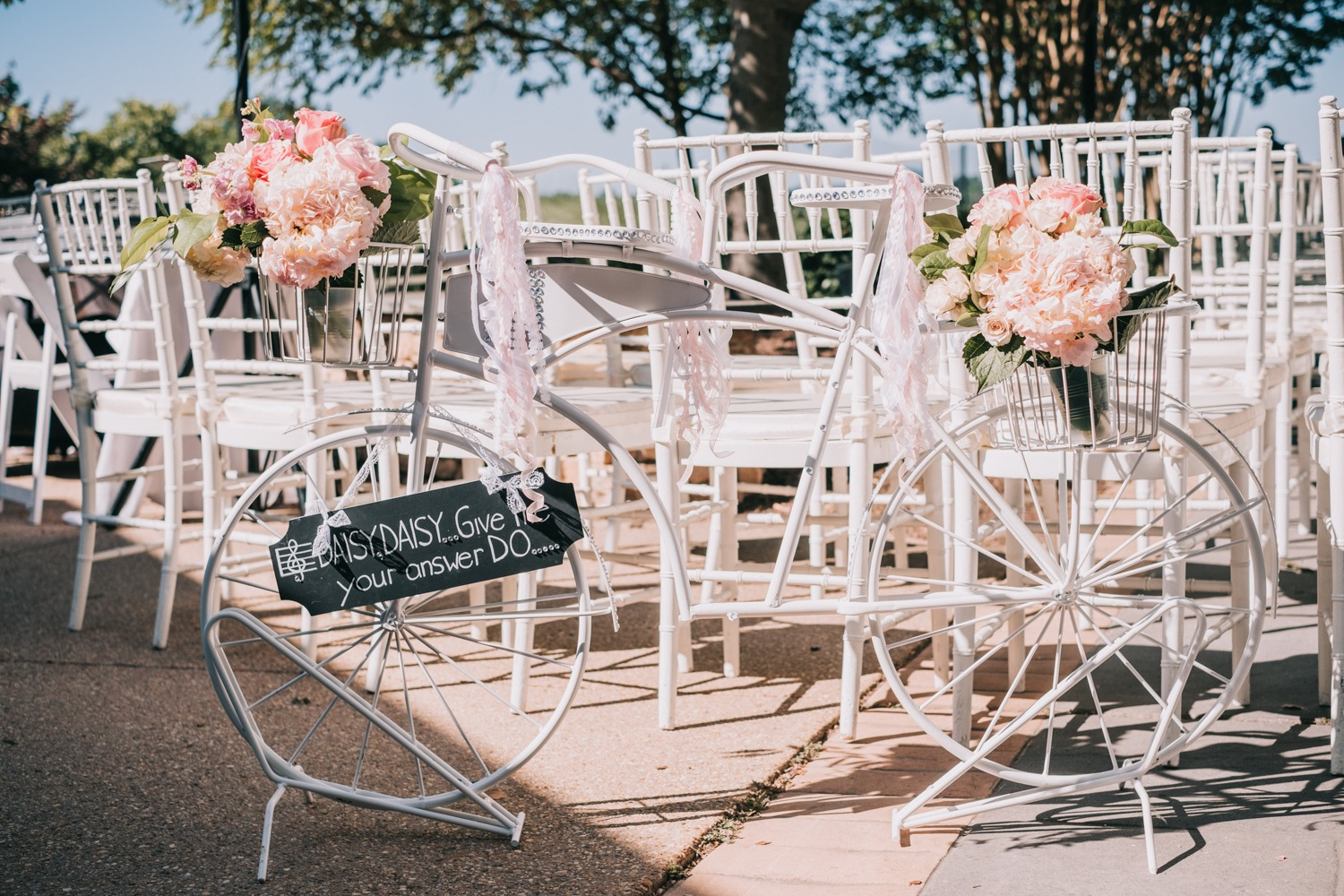 daisy daisy, wedding sign
