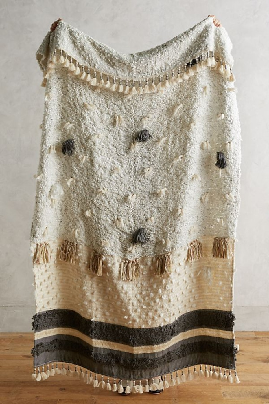 Anthropologie Open Market Throw Blanket