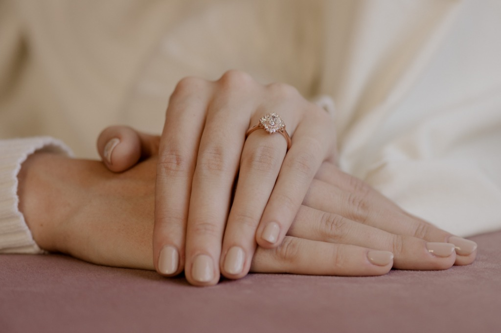 The Daisy Ring—Gatsby inspired glamour.