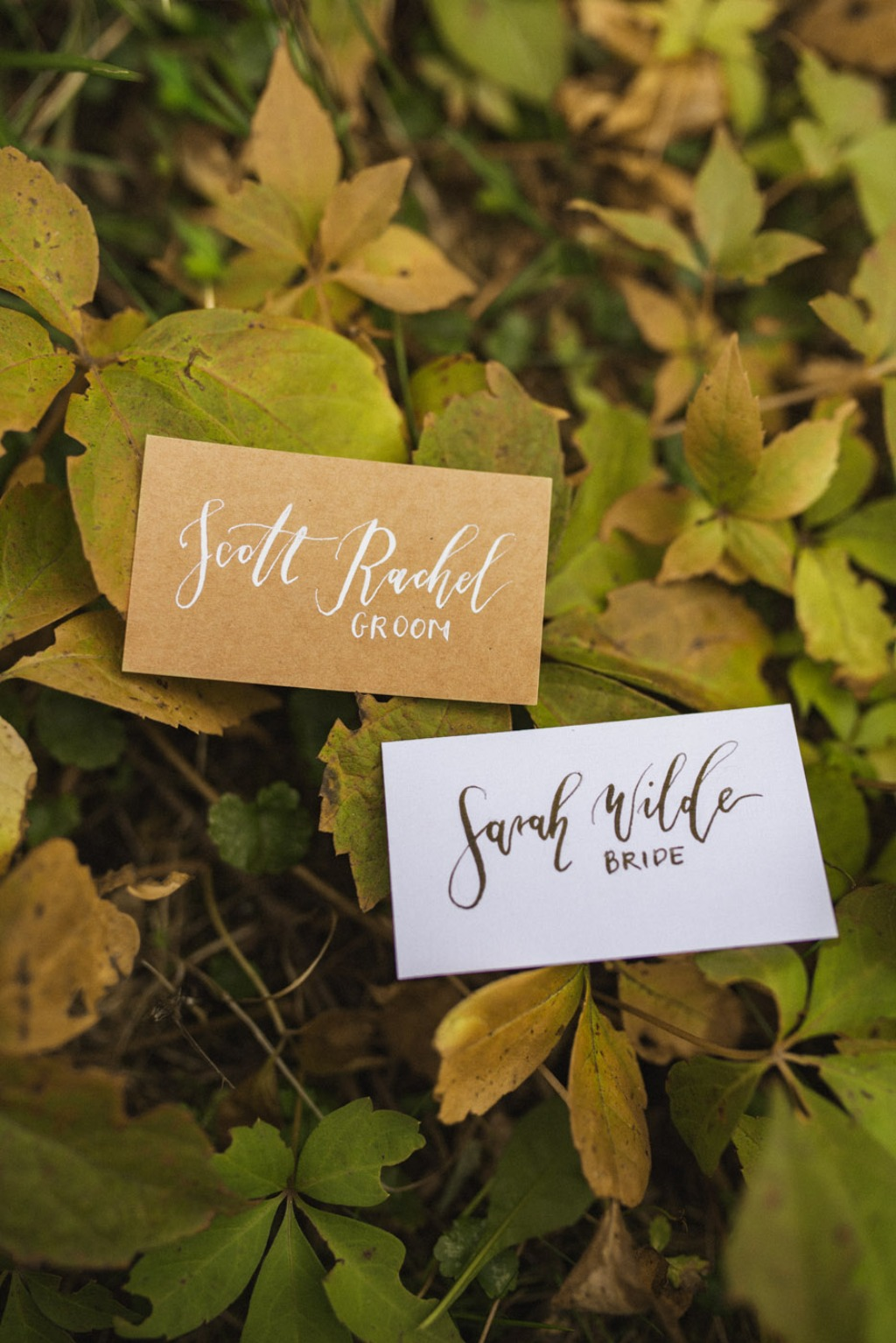 Calligraphy place cards