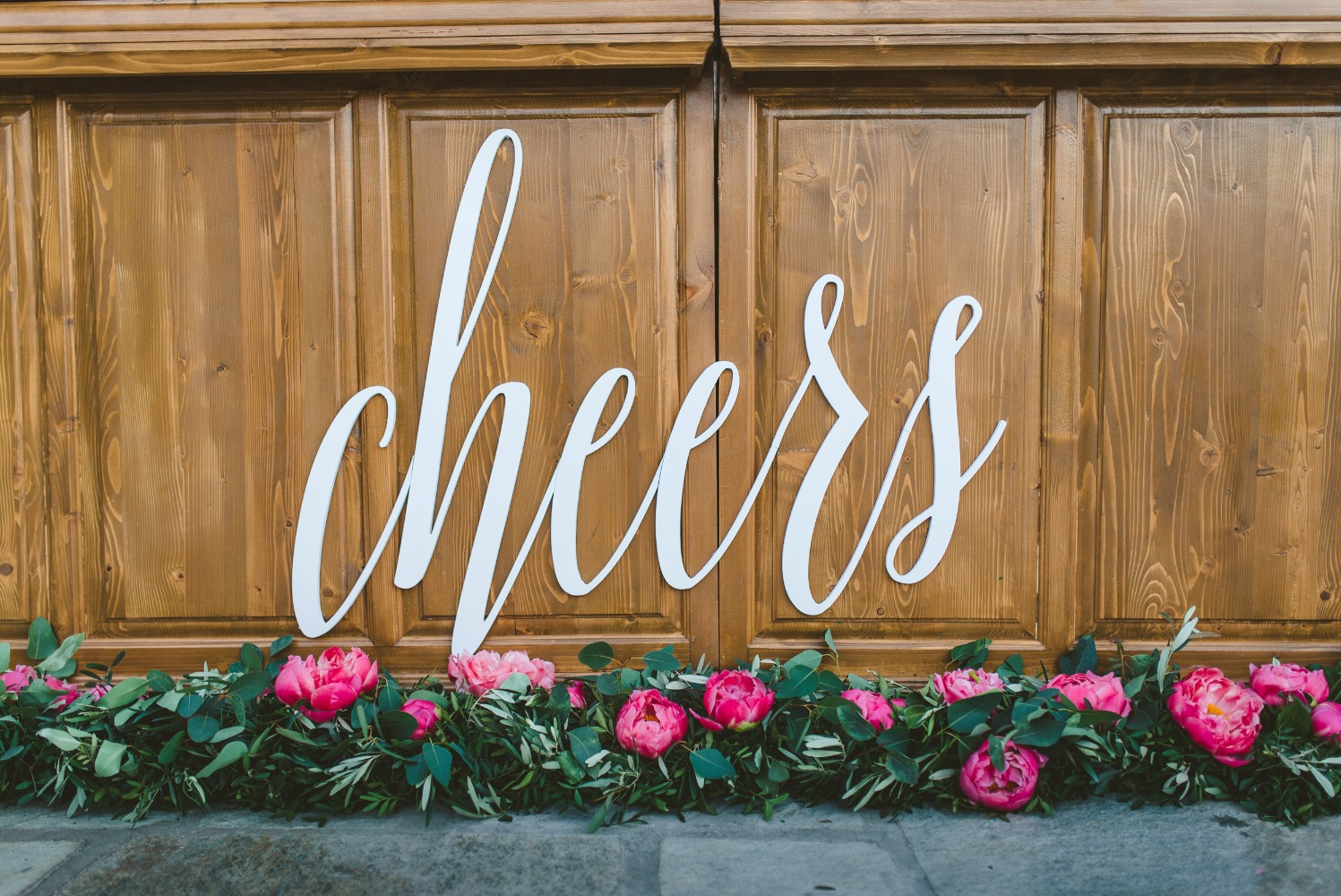 cheers wedding sign
