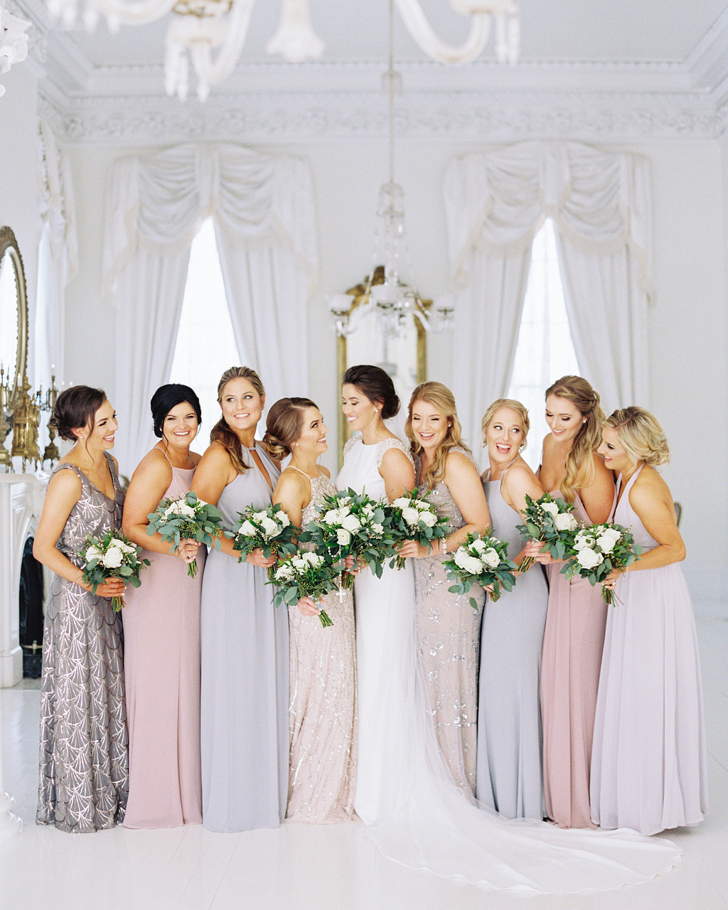 Bridesmaids are the girls have stood by the bride through many phases of life. They're the girls that have shared many laughs, tears
