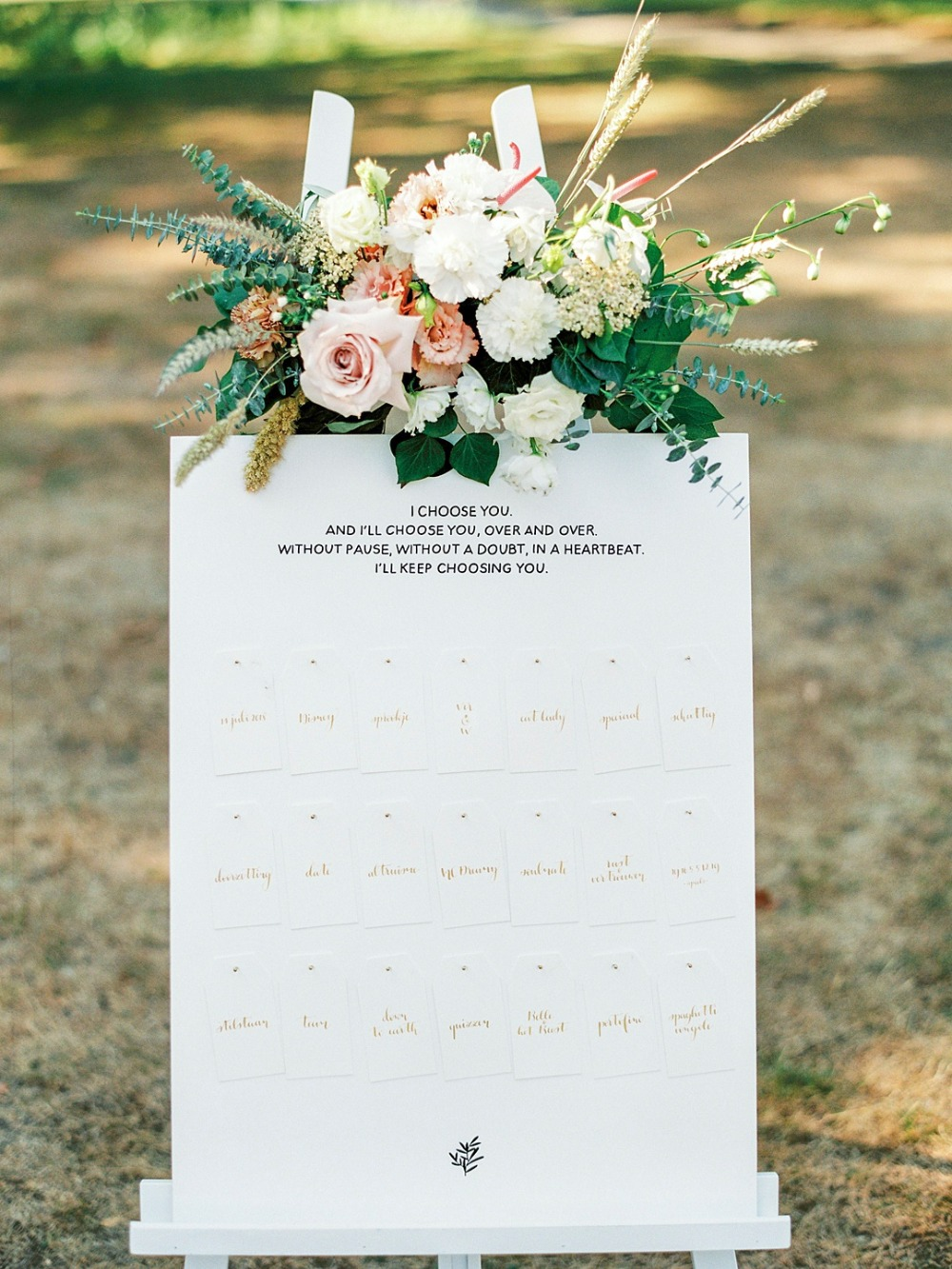 Seating chart for guests