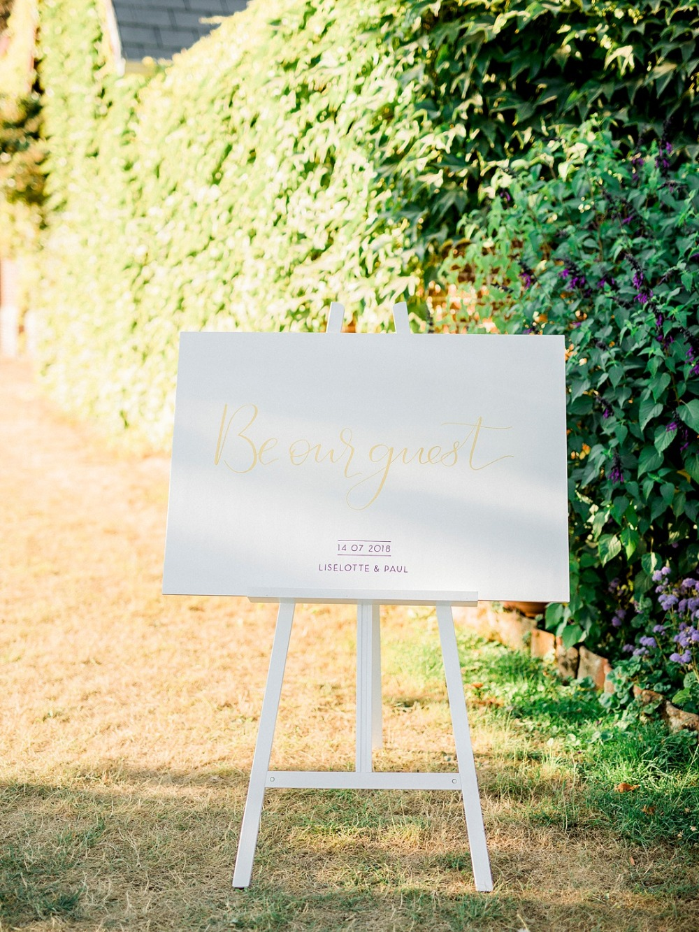 'Be our guest' wedding sign