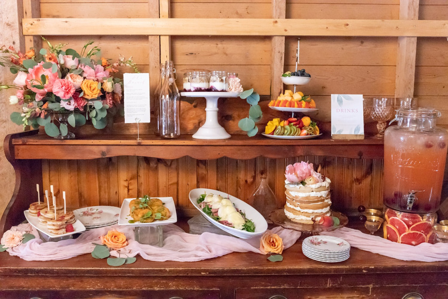 Brunch wedding spread