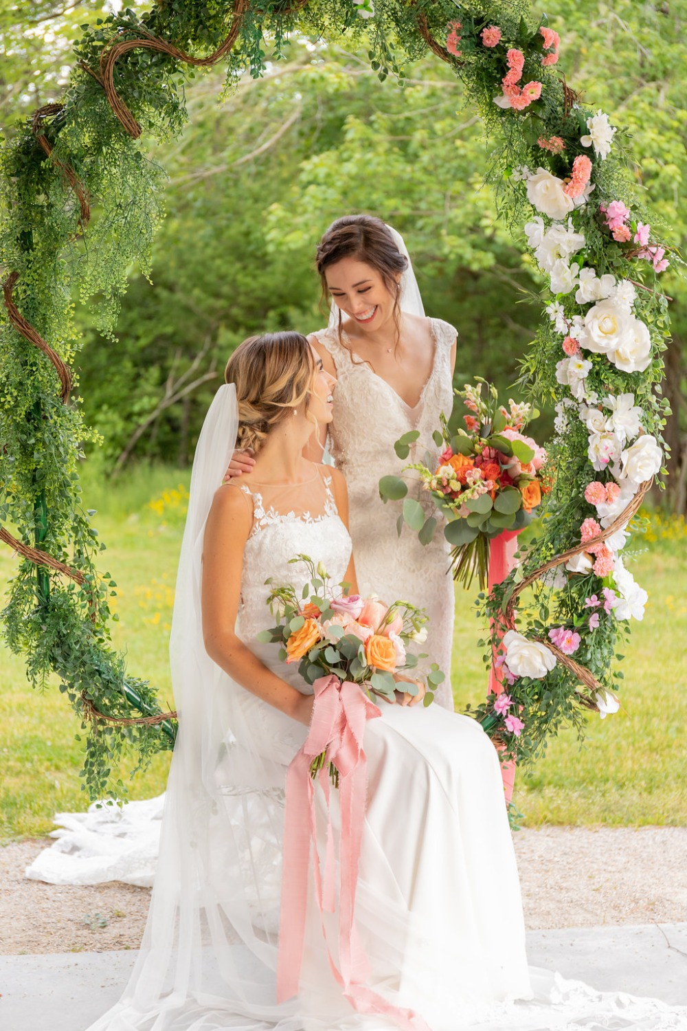 Two brides and a brunch wedding