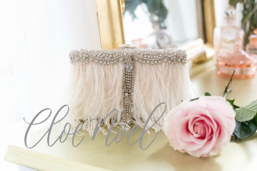 Unique and glamorous one of a kind bridal clutches for your special day.