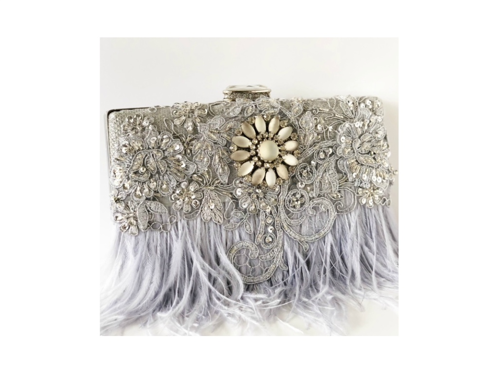 Glamorous statement making evening clutches. All one of a kind.