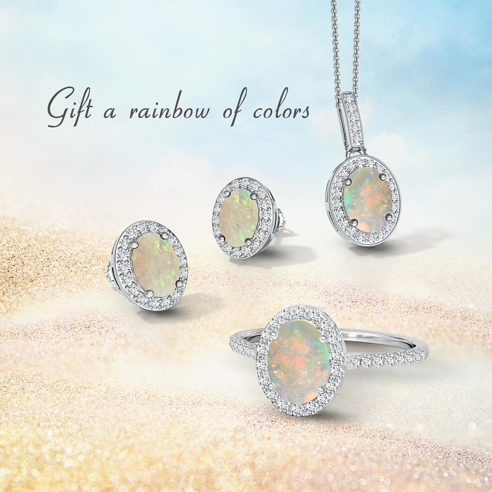 What could be better than an opal for an October girl?