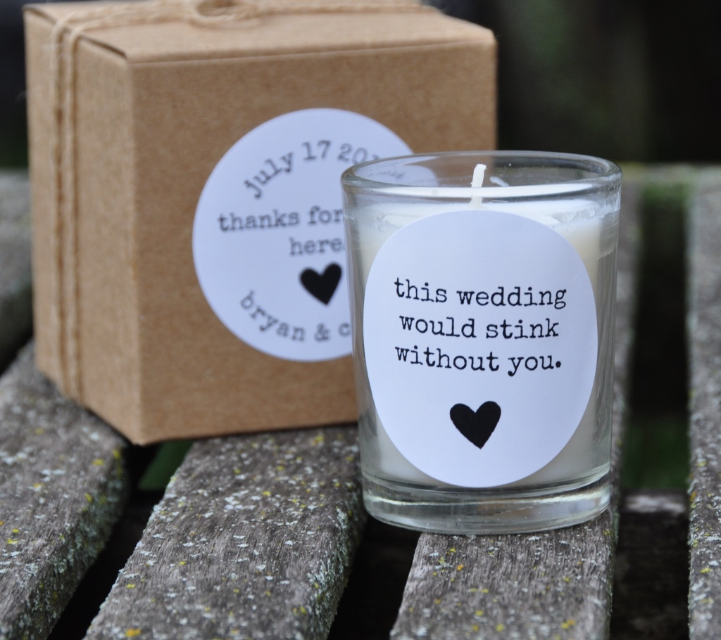 Unconventional wedding favors for the discerning couple...customized for your big day.
