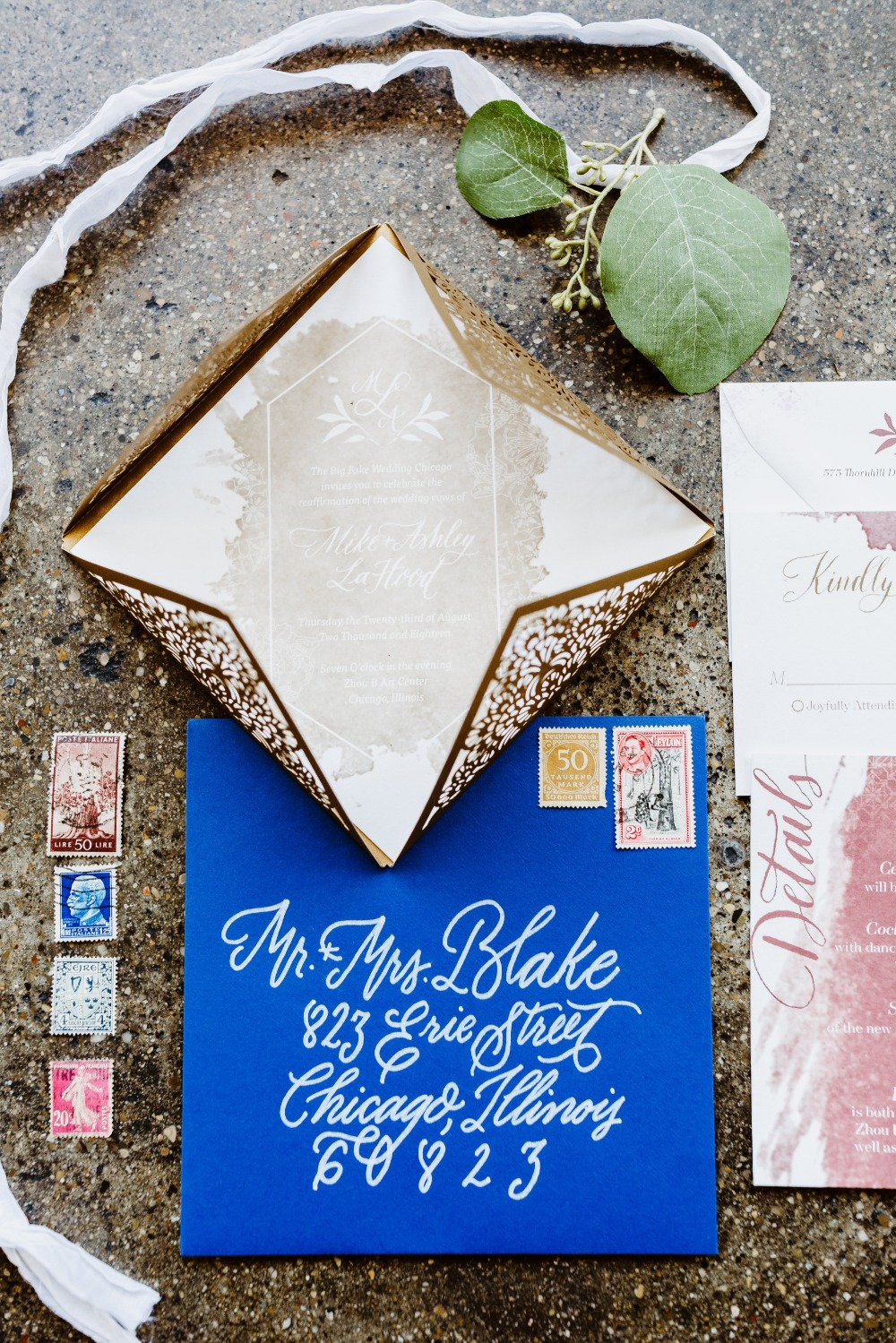 intricate wedding invitation suite